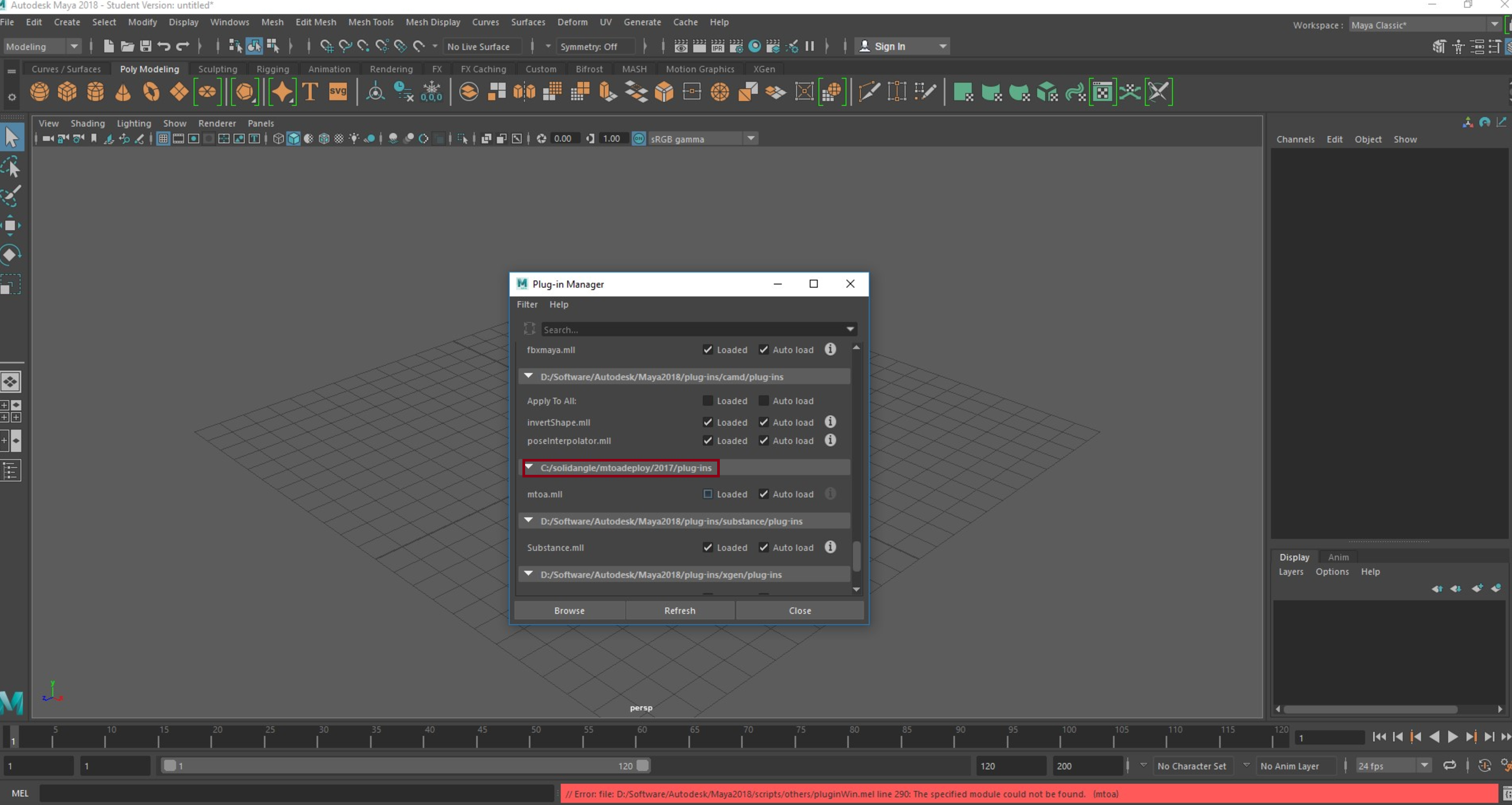 Solved: Arnold does not load in Maya 2018 - Autodesk