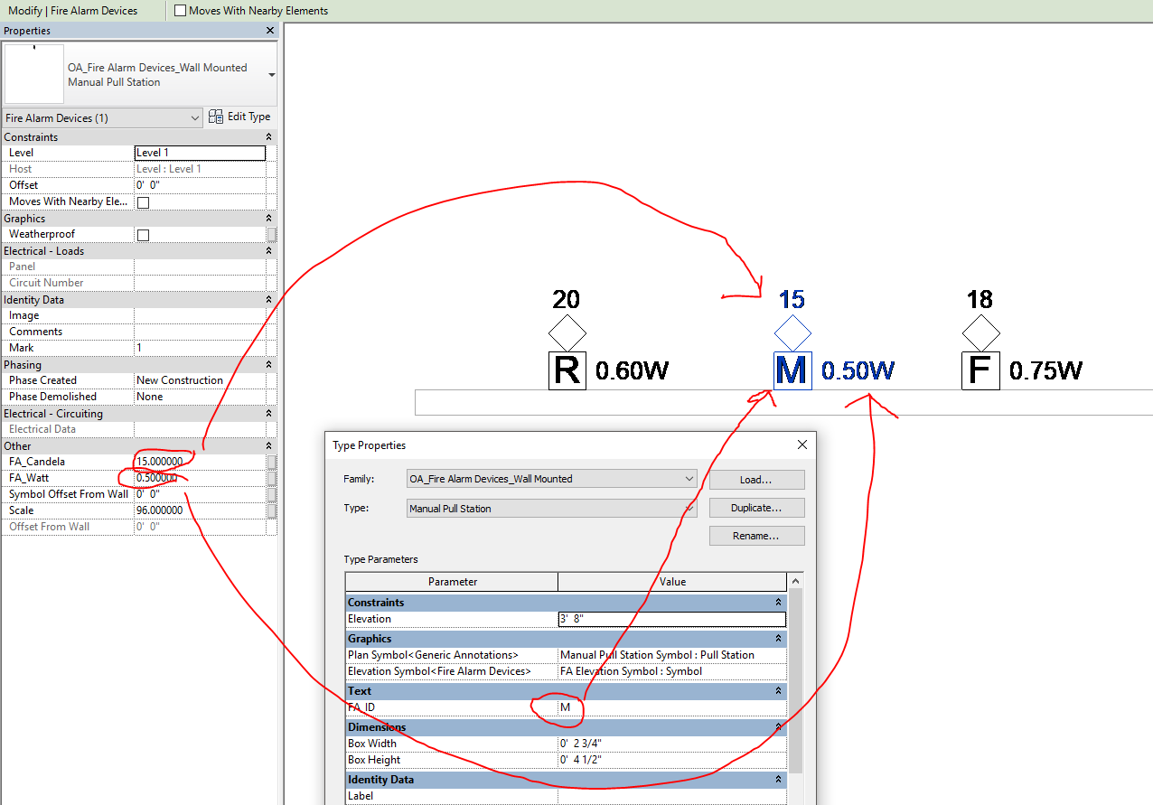 Solved: Adding/editing family to show text on the revit drawing