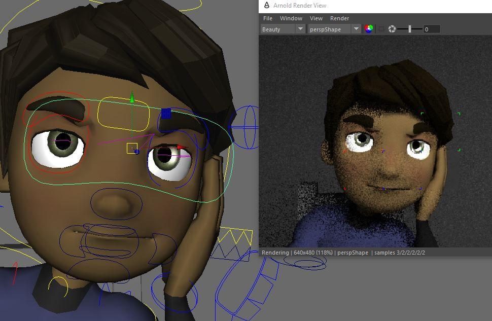 Solved: Arnold render - Eleven Rig no eyes, pale skin