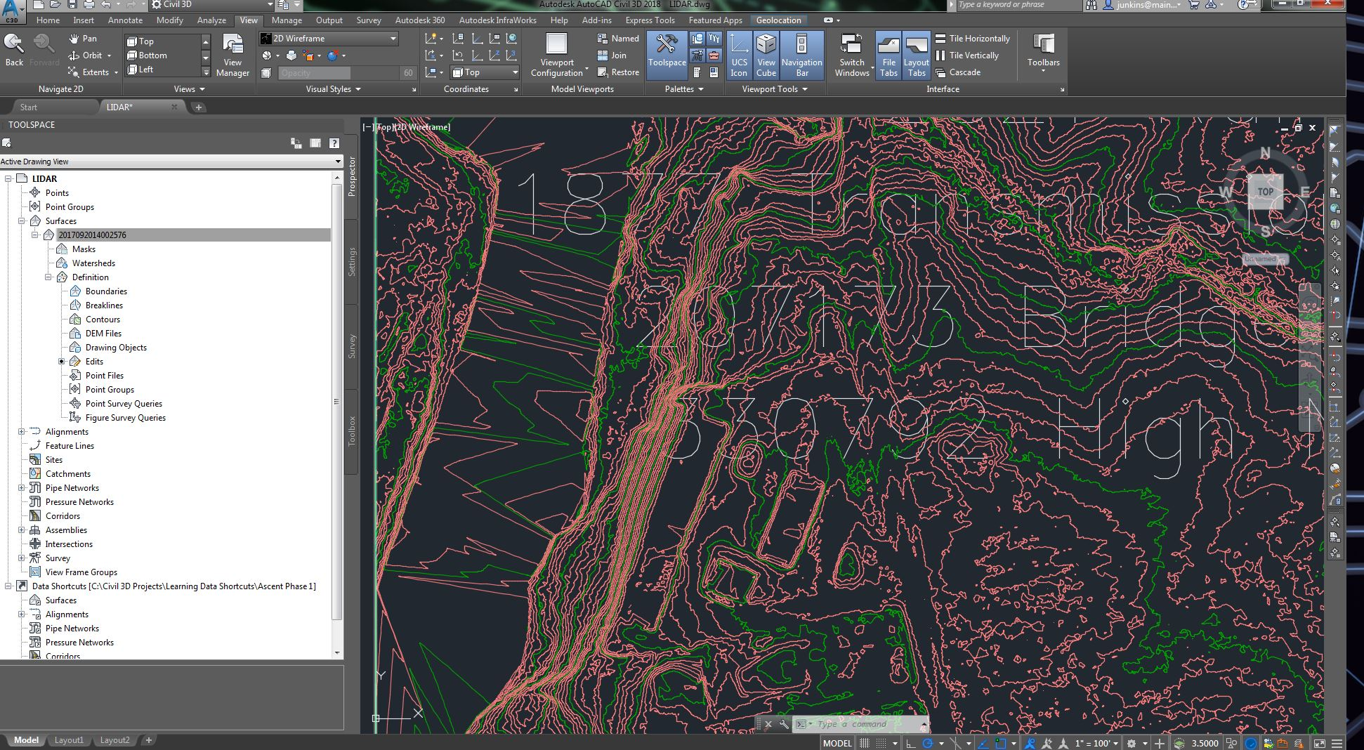 Contour Line Drawing In Autocad : Solved show or extract contour lines from a grid surface