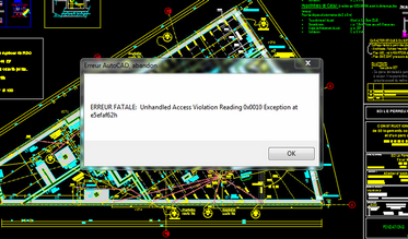 Auto CAD 致命错误:unhandled access violation reading 0x0000 exception at 6532b0h