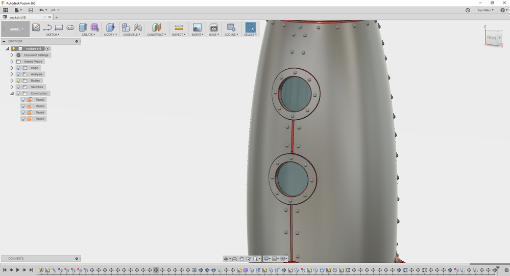 project line to curved surface - Autodesk Community- Fusion 360