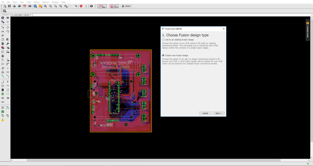 Solved: I can't push PCB Layout to Fusion 360 - Always get