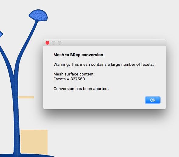 Solved: Stl to Brep error large number of facets - Autodesk
