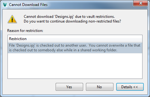 Solved: Cannot download due to vault restrictions - Autodesk