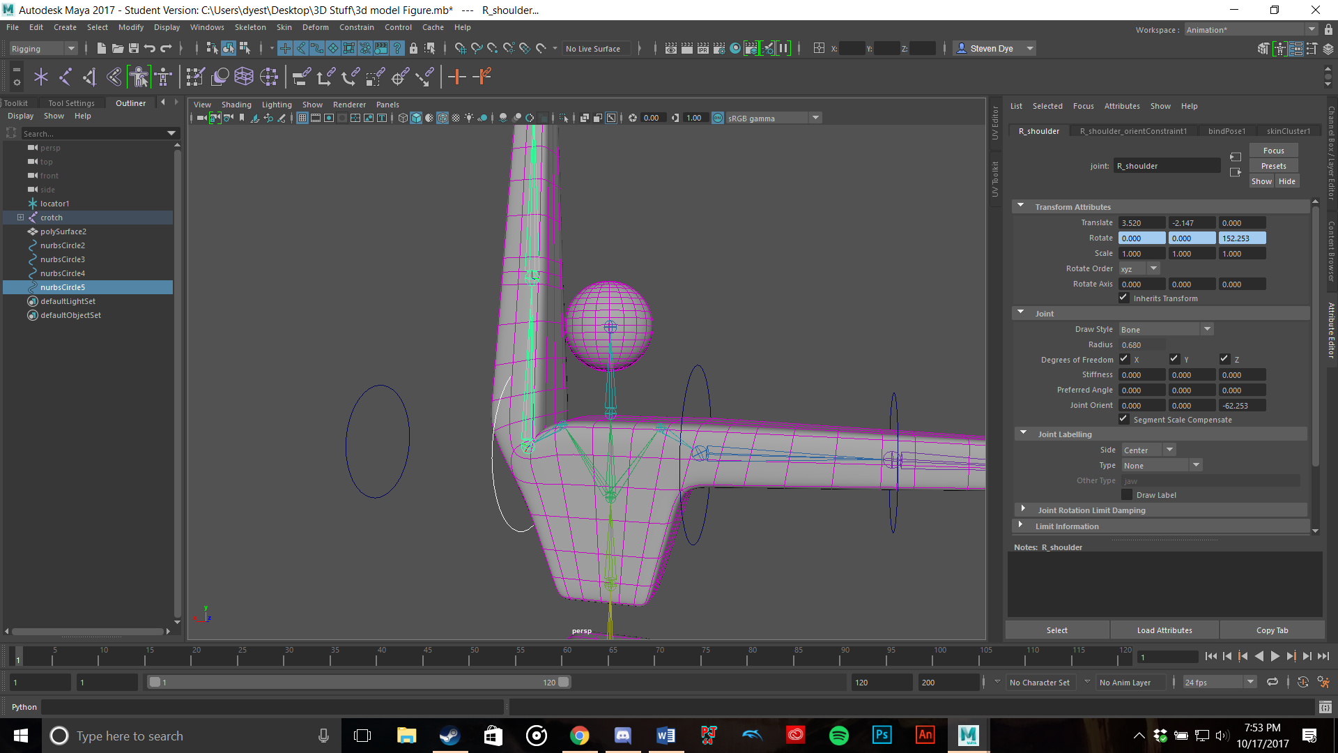 Solved: How to connect NURBs to joints? - Autodesk Community