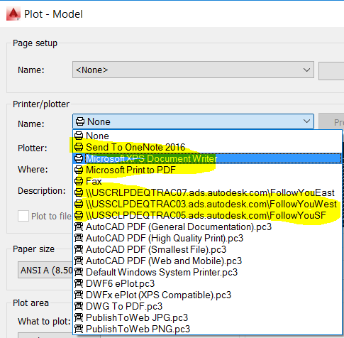 Solved: AutoCAD Print job goes to wrong print device - Autodesk