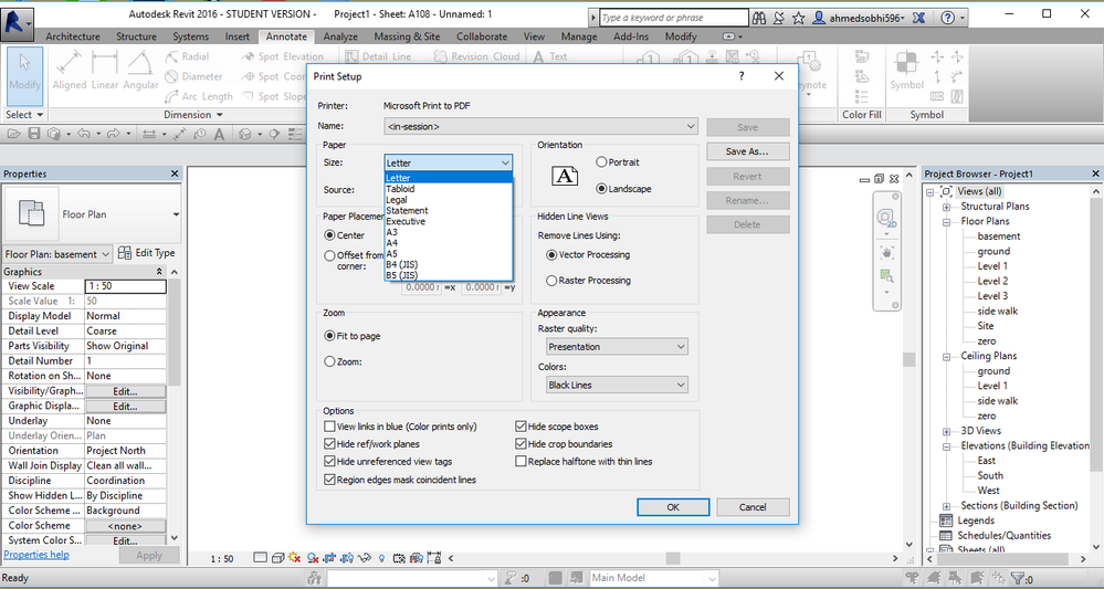 Solved: Print to PDF paper size - Autodesk Community- Revit