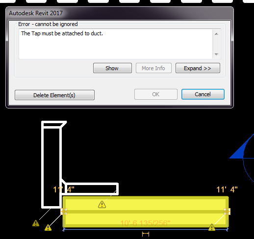 The Tap Must Be Attached To Duct - Autodesk Community- Revit Products