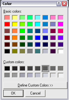 Solved: Creation of a ComboBox drop-down menu for color