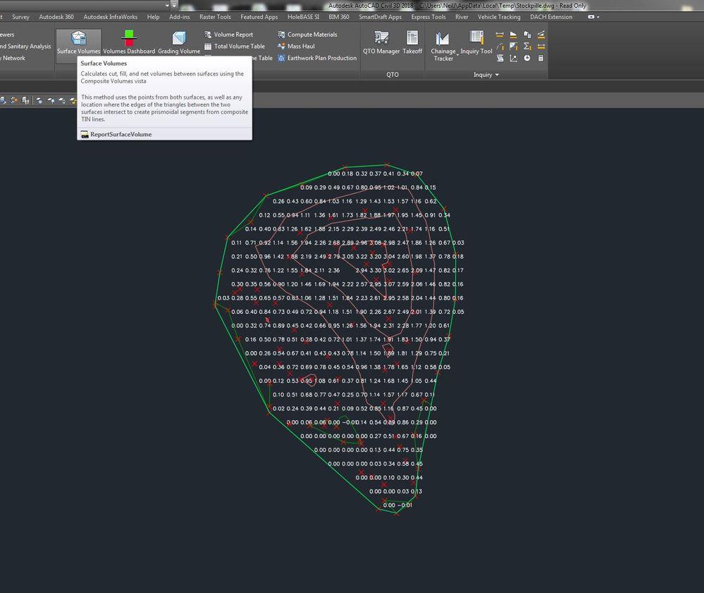 Solved: Volume calculation - Autodesk Community- Civil 3D