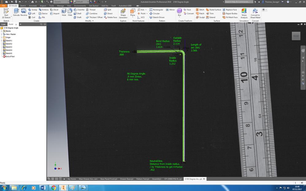 Solved: sheet metal, bend allowance - Autodesk Community- Inventor