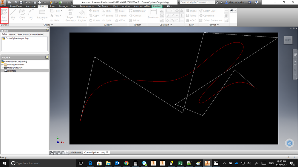 Turning off SketchControlPointSpline Polygon Visibility in