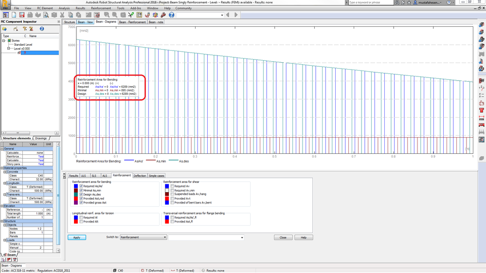 Solved: Disaster #1 In RSA RC Beam Design According To ACI