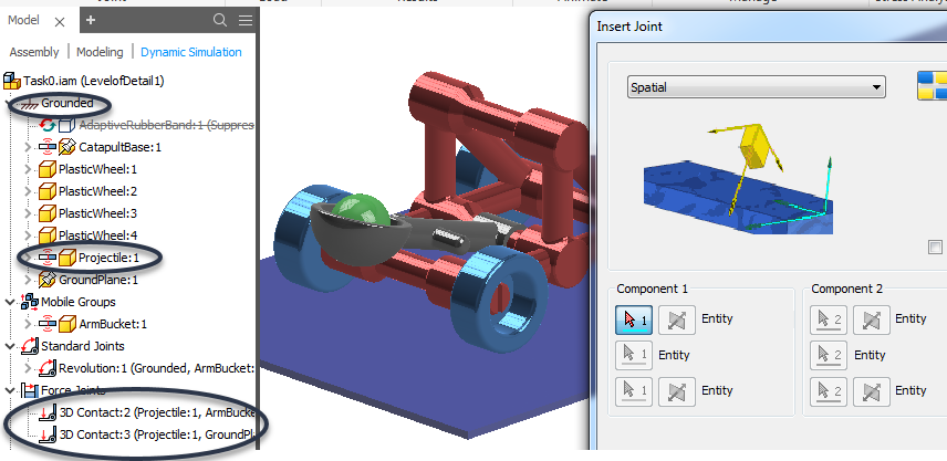 Solved: Dynamic Simulation - Understanding Spatial Joint