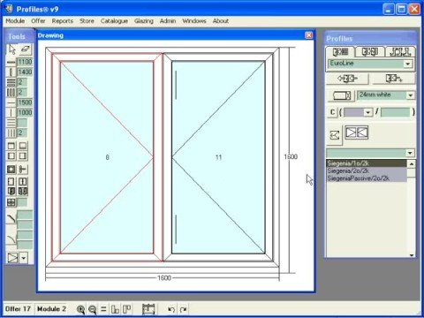 Can use autocad to calculates dimension window alumium for Window and door visualiser