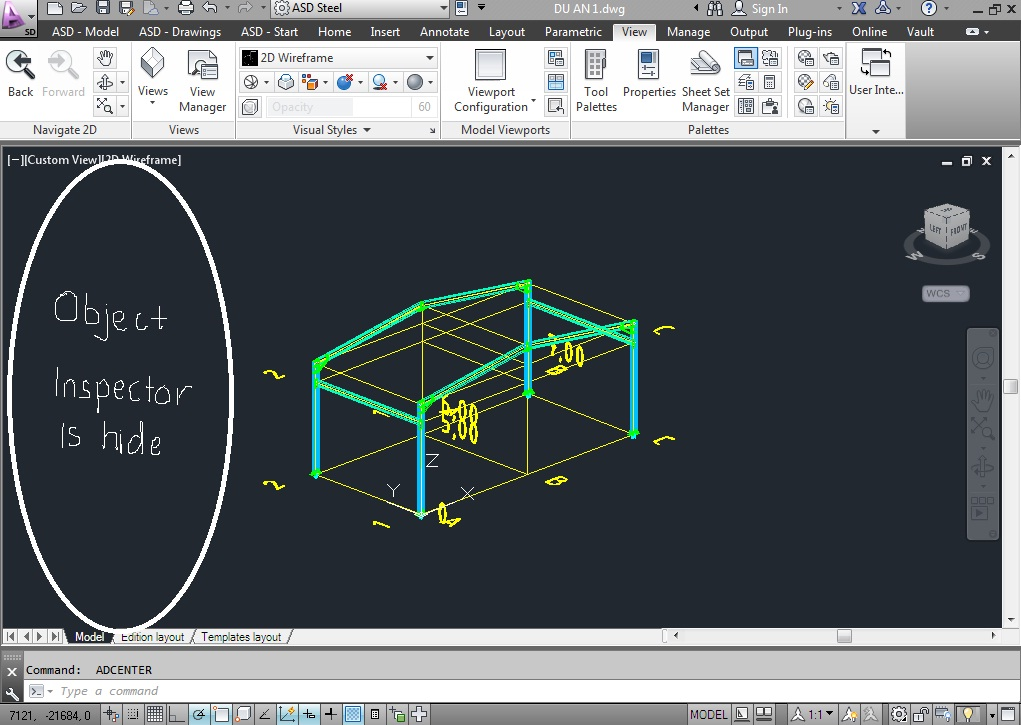 Solved: Object inspector tool is hided - Autodesk Community