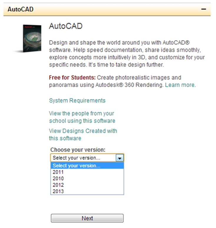 Free Student Version Of Autocad 2010 ?