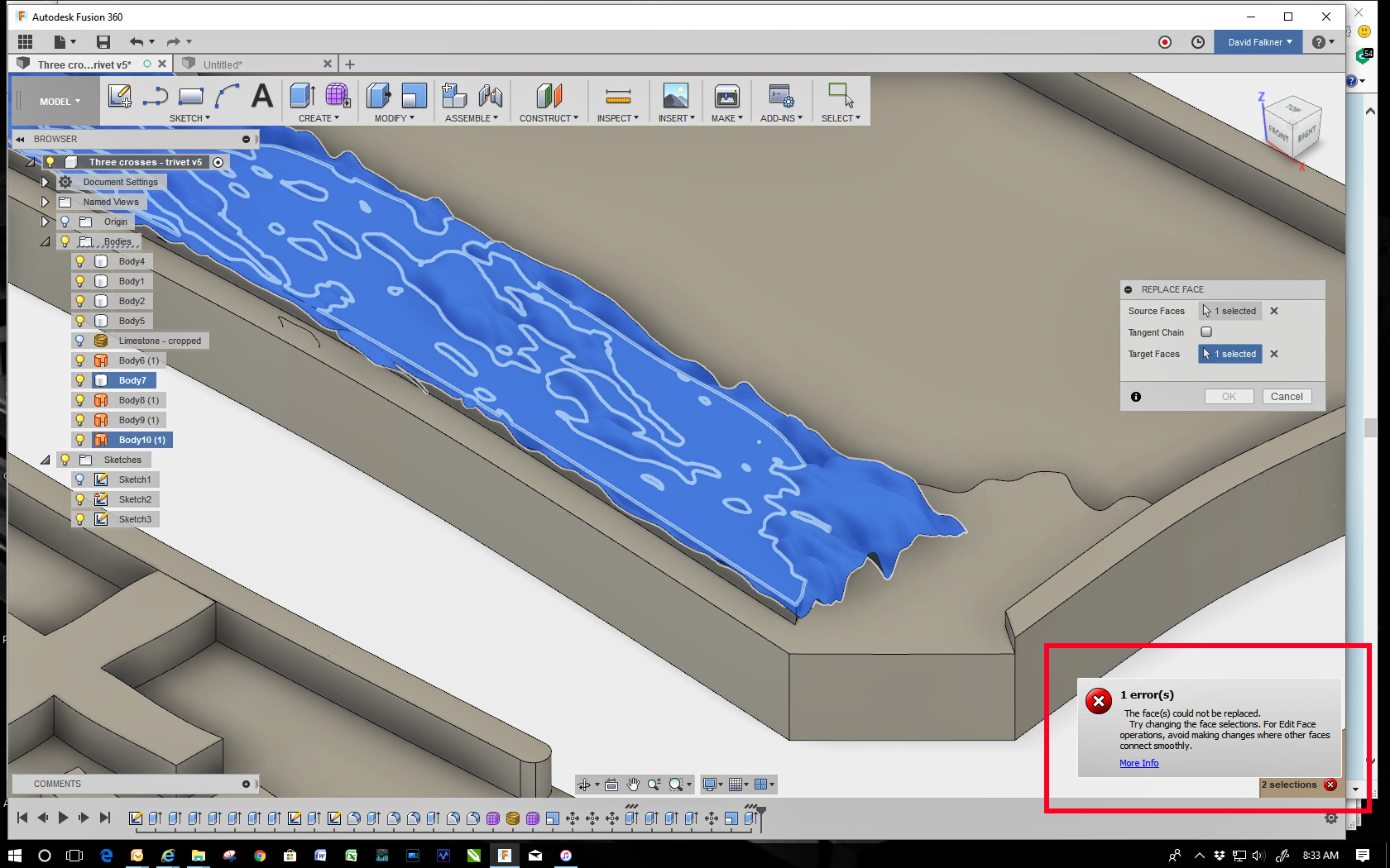 Cutting a textured surface - Autodesk Community- Fusion 360