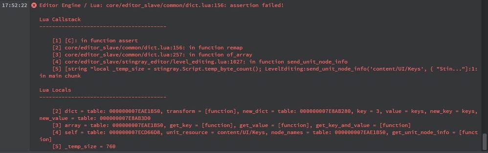 lua error - Autodesk Community- Stingray