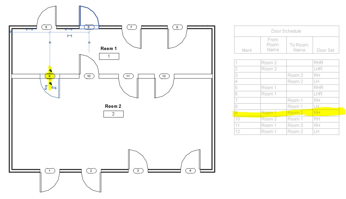 Solved Door Swing Direction In Schedule Autodesk