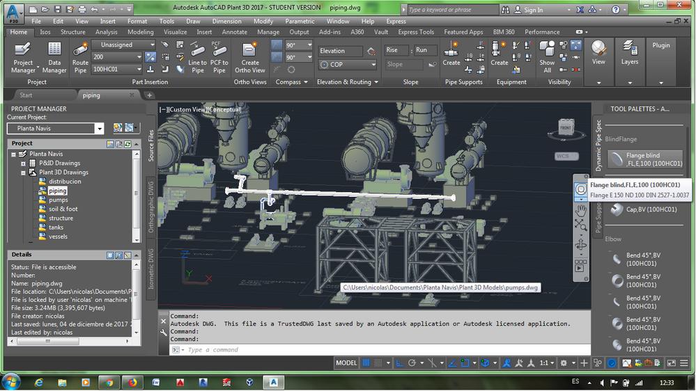 Solved: AutoCAD Plant 3D -2017 - P&ID Symbols vs Plant 3D