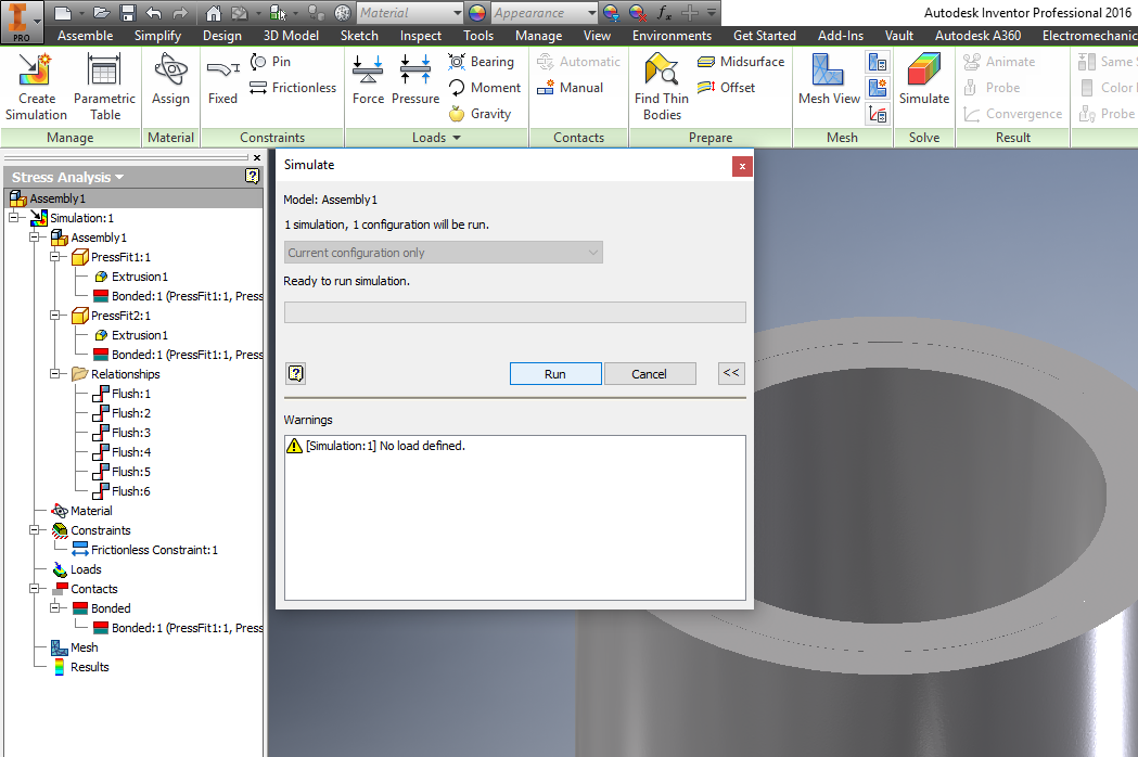 Shrink fit contact -anomaly - - Autodesk Community- Inventor