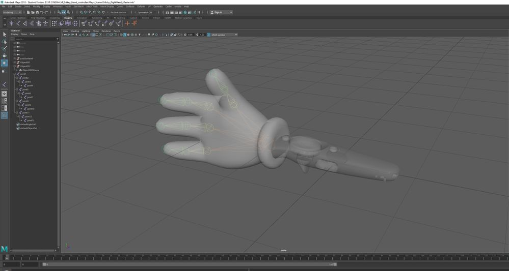 Rigging cartoon hand for VR? - Autodesk Community- Maya