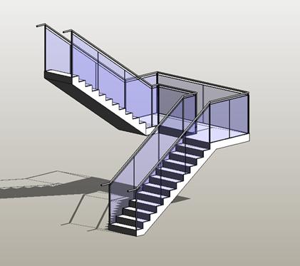 Solved: glass panel railing at stair landing (2017