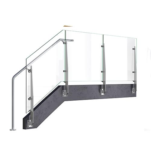 Solved: glass panel railing at stair landing (2017) - Autodesk