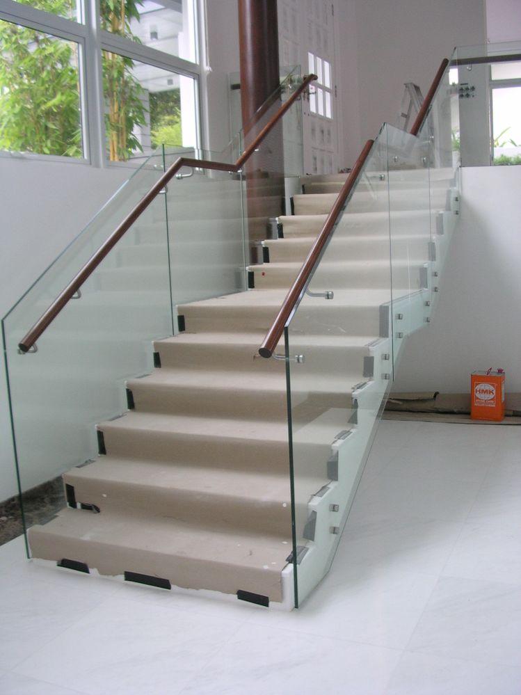 Solved: glass panel railing at stair landing (2017 ...