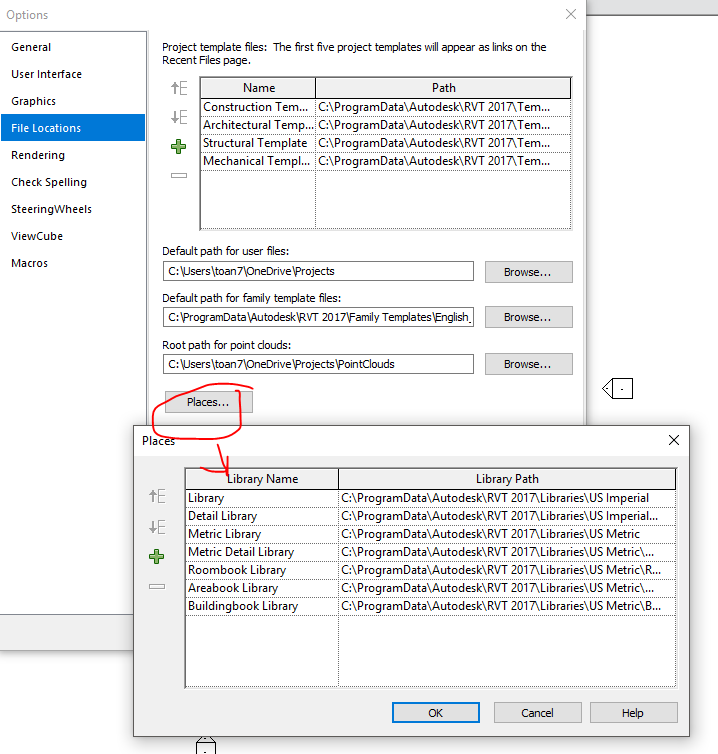 Solved: can't find family files - Autodesk Community- Revit