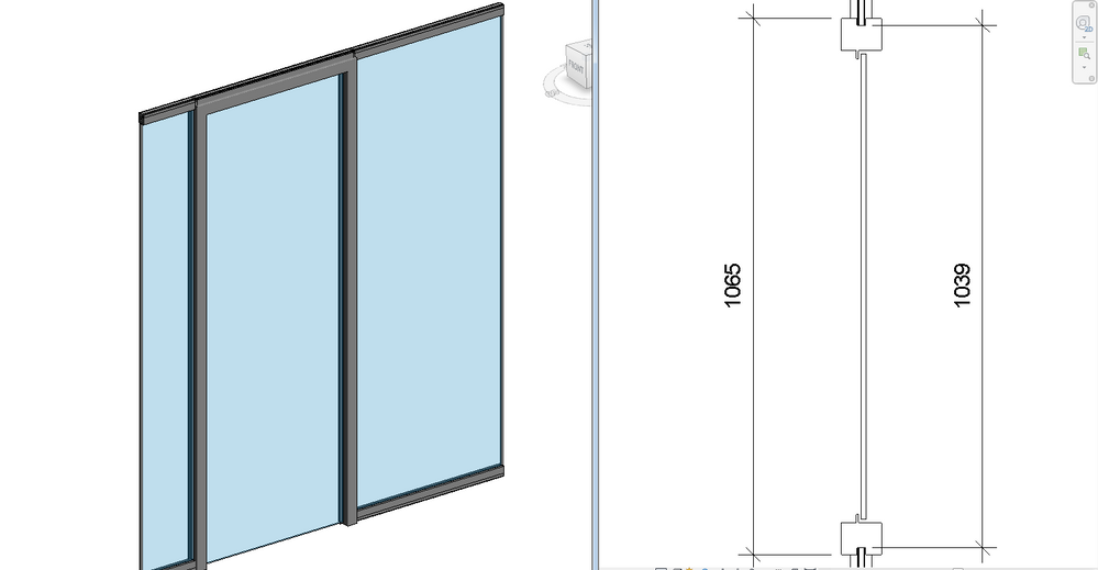 Curtain Wall Fixed Door Widths