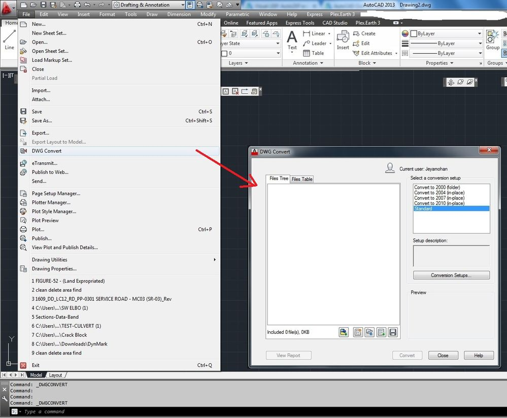 how to convert pdf to dwg in autocad 2013