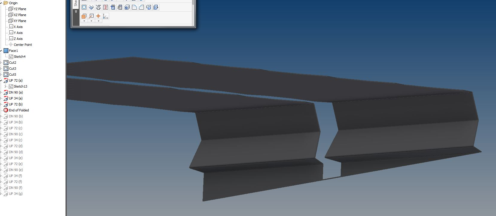 Solved Inventor 2016 Sheet Metal Trouble Creating Flat