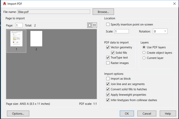 Solved: xref PDF into a drawing  - Autodesk Community- AutoCAD