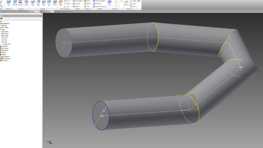 Solved Inventor Sheet Metal Pipe Boat Cut Flat Pattern