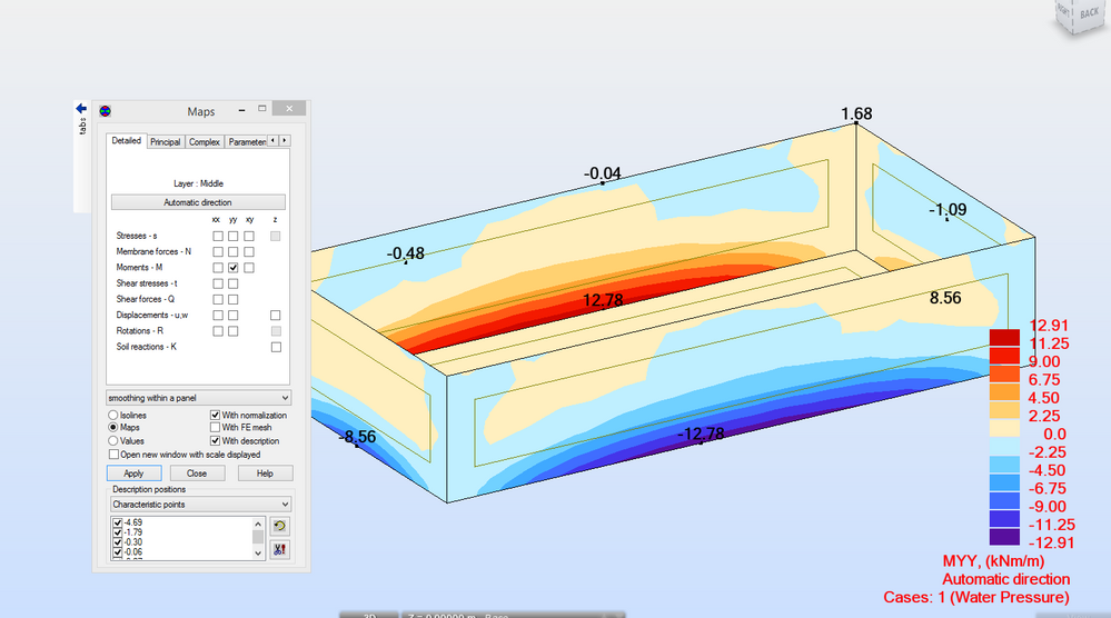 Swimming Pool Result - Autodesk Community- Robot Structural