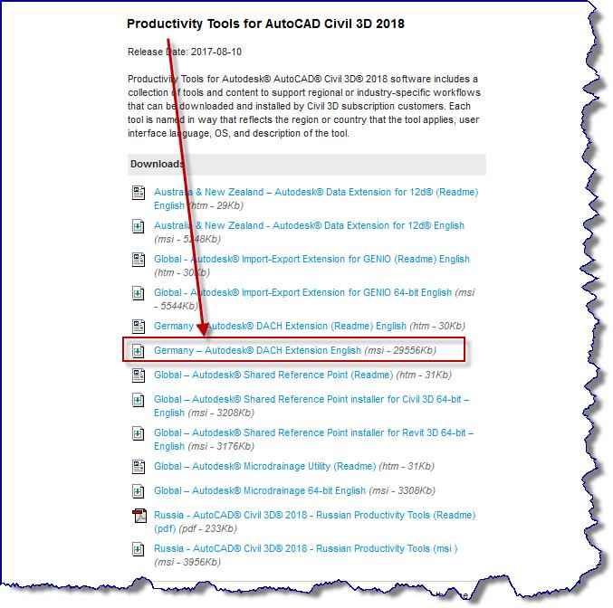 Gelost Civil3d 2018 Import Und Export Von Reb Daten Autodesk