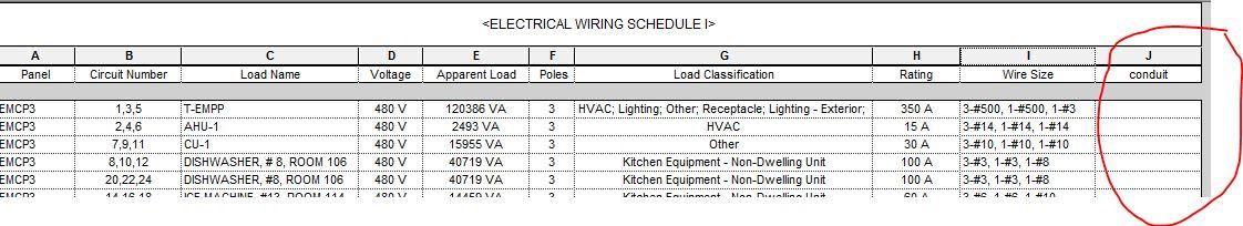 Wiring Schedule on