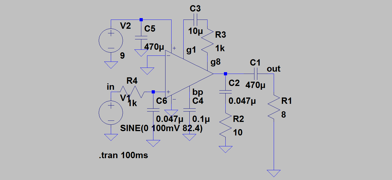 Solder components based on a guitar amp circuit but no