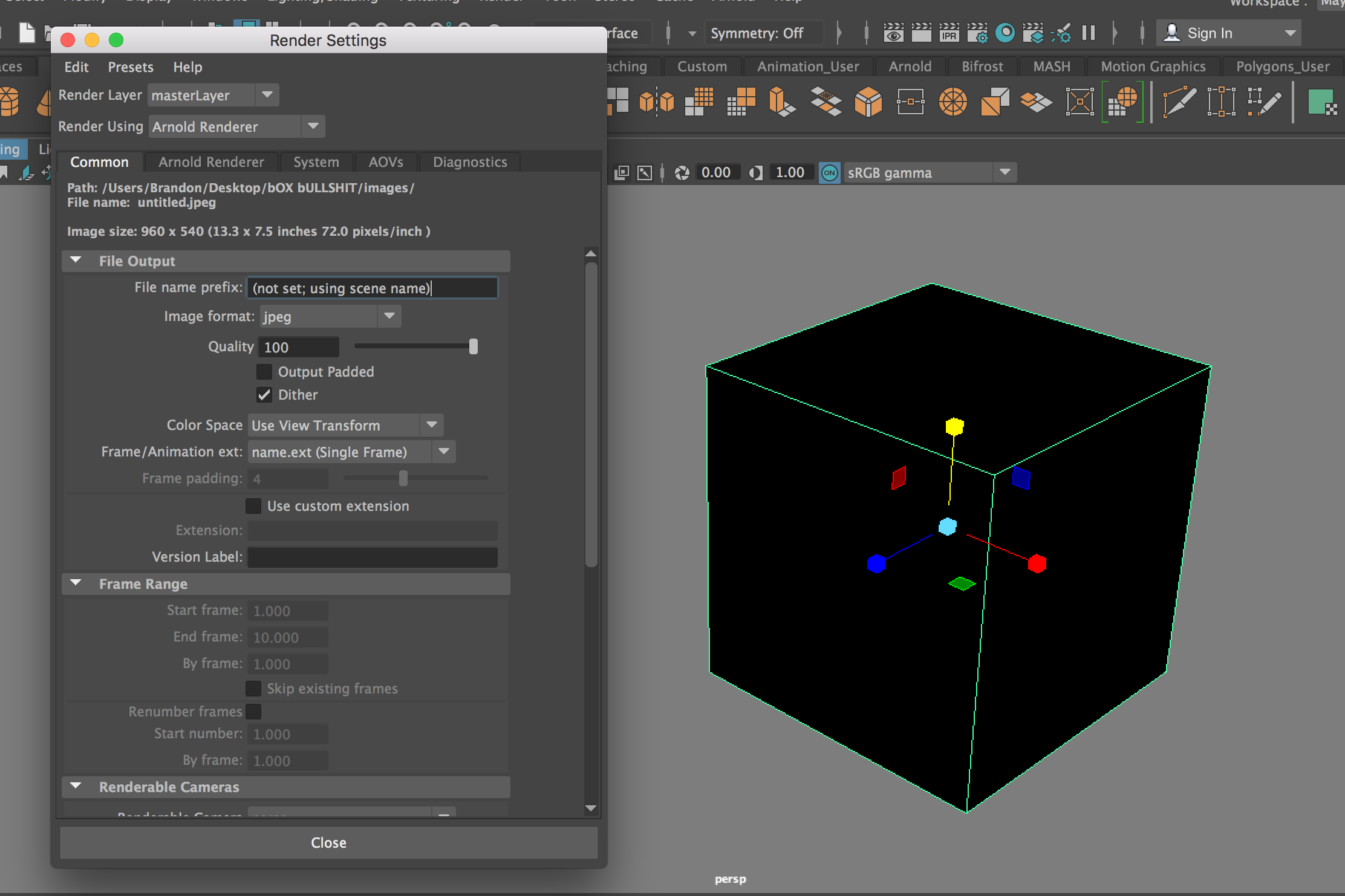 Arnold Render Sequence NOT WORKING! - Autodesk Community- Maya