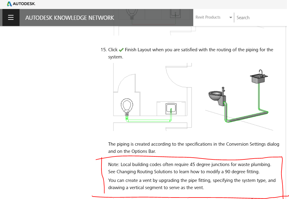 Solved: Generate Plumbing layout 45 degree only - Autodesk Community