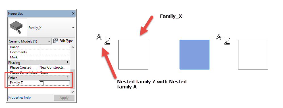 Solved: Controlling visibility of nested families - Autodesk