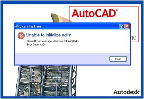 AutoCAD 2010 Unable to initialize adlm issue - Autodesk