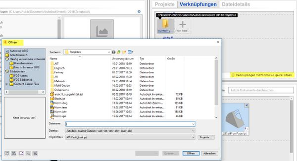 Datei öffnen bei ausgeschalteter Option