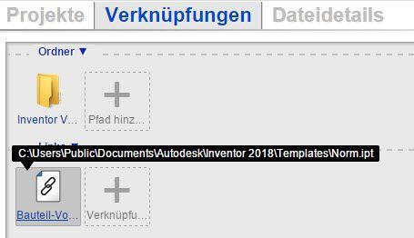 Datei verlinkt