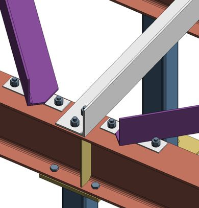 Angle connection to Beam - Autodesk Community- Advance Steel