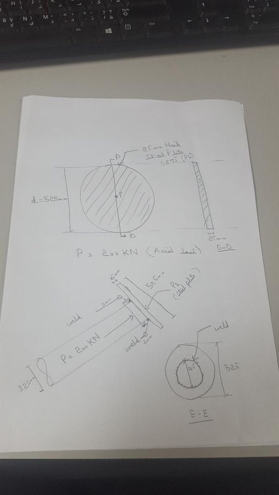 Solved: How to model a pipe flange and calculate its axial load