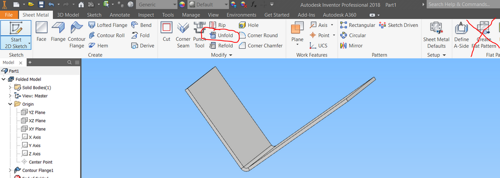 Solved Sheet Metal Flat Pattern Edits Disappear